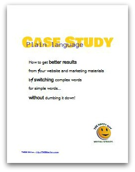 Cover of Plain language edits case study