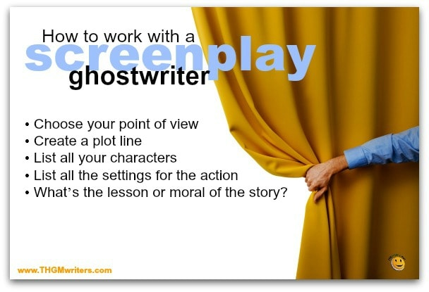 How to work with a screenplay ghostwriter