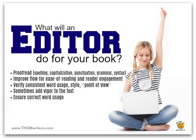 What an editor does for your book