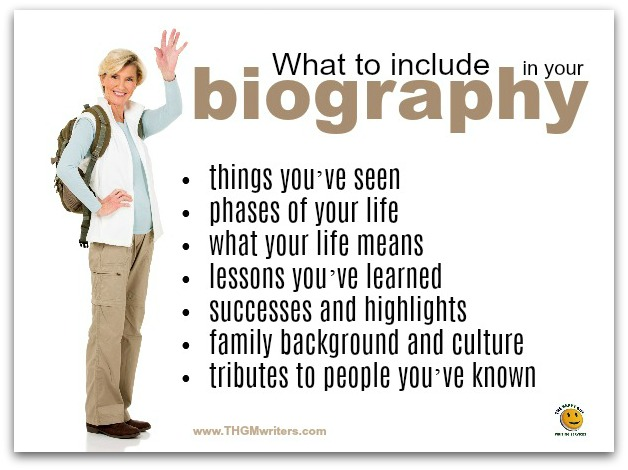 What to include in a biography