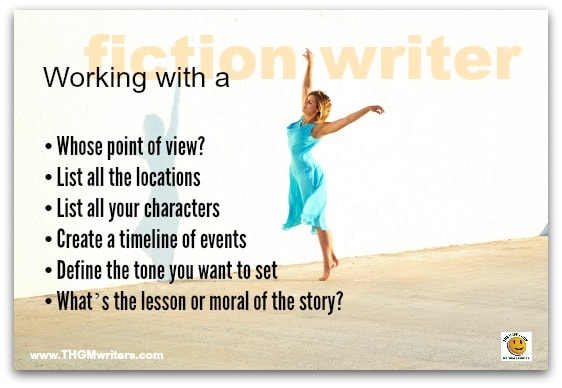 how to work with a fiction writer