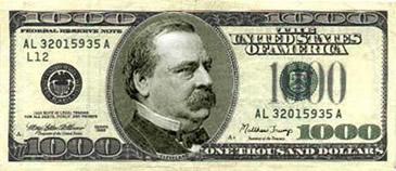 US 1000 dollars referral