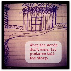 Use pictures to bust through writer's block