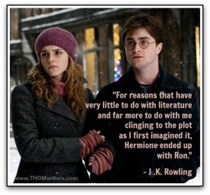 Quote from JK Rowling aboutHarry and Hermoine
