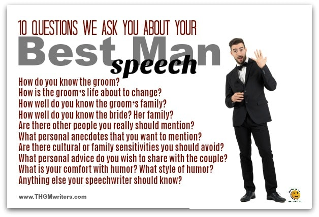 Best man speech questions