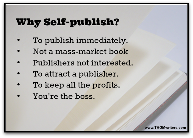 Why self-publish?