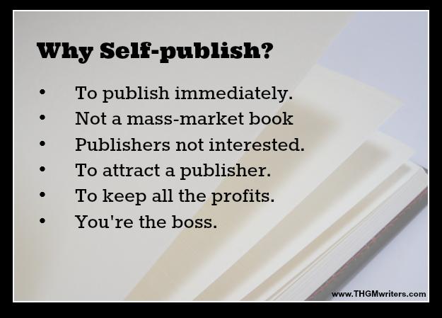 Why self-publish?