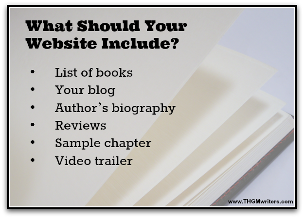What should an author website include?