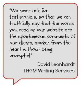 Why we NEVER ask for testimonials