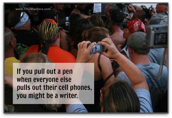 Pen or cellphone
