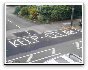 Keep clear misspelling