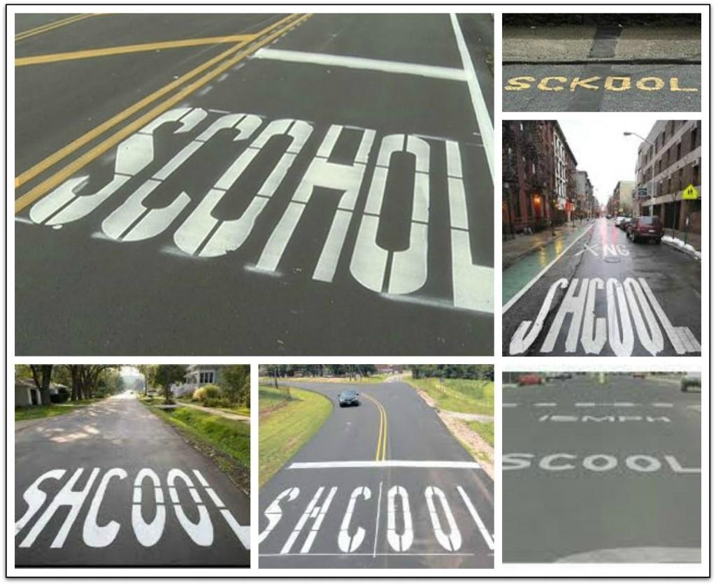 School misspelled