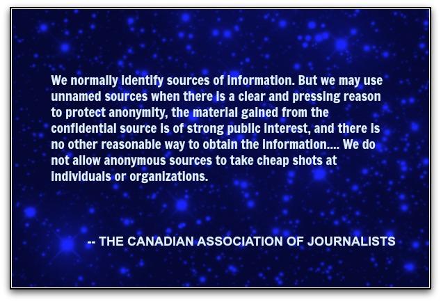 CAJ ethics on anonymous sources