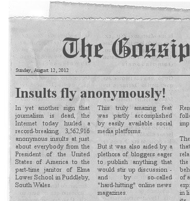 Newspaper insults on the Web