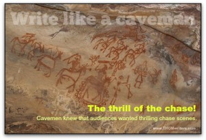 Hunting scenes were common in cave art
