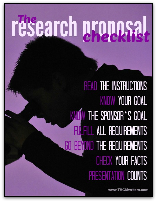 The research proposal checklist