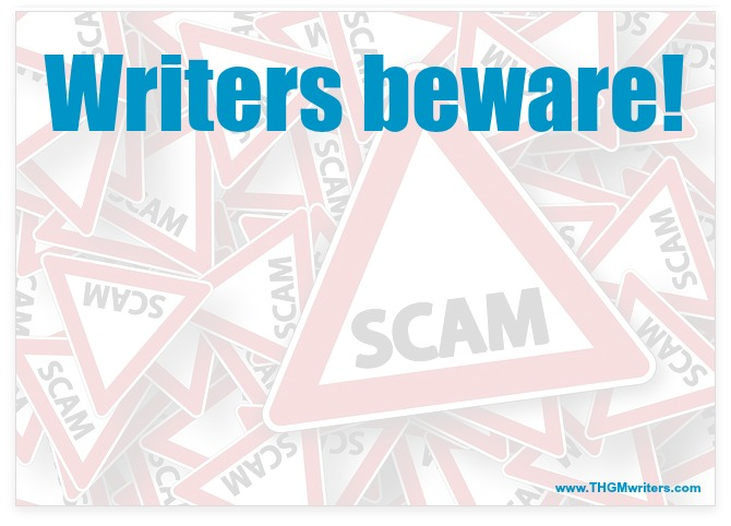 Writers beware of scam
