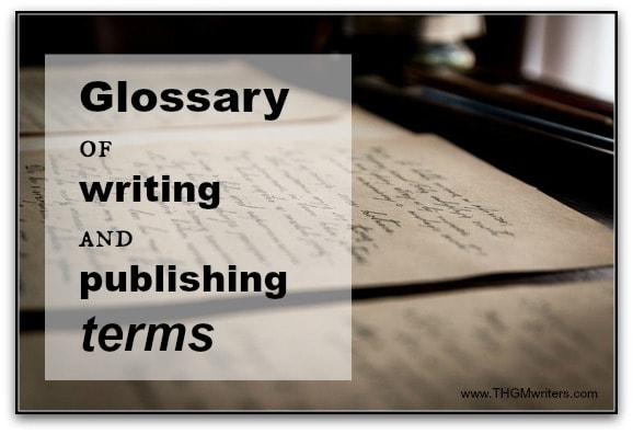 glossary of writing terms