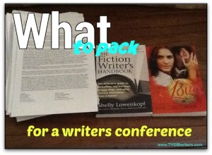 What to pack for a writers conference