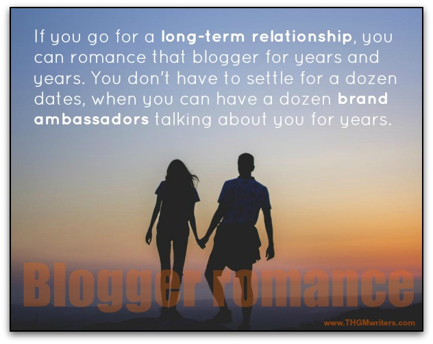Long-term blogger relationship