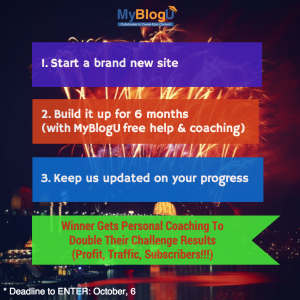 MyBlogU blogging contestallenge