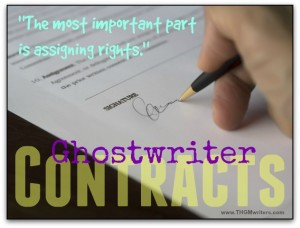 Ghostwriter contracts must assign rights