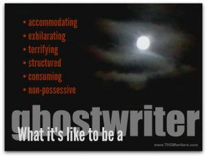 What it's like to be a ghostwriter