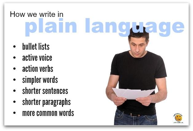 how we write in plain language