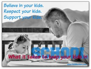 Speech: Support your kids to keep them in school