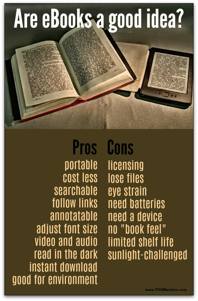 Pros and cons of eBooks