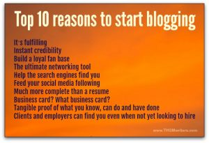 Top 10 reasons to start blogging (unless you are an undercover spy or a drug smuggler)