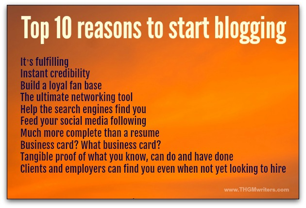 10 reasons to start blogging