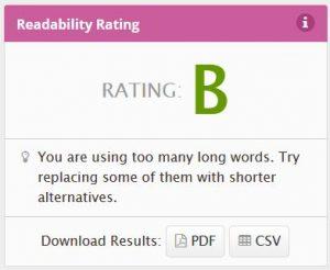 Readability after plain language edits