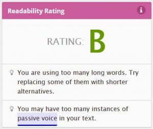 Readability after plain language edits