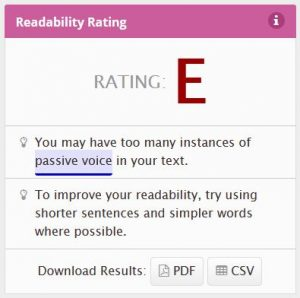 Readability before plain language edits
