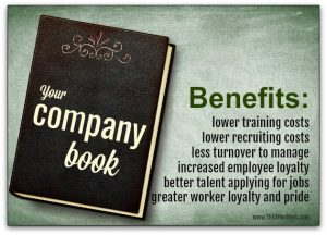 Your company book is the ideal recruiting tool