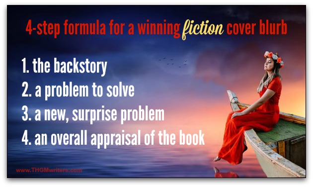 4-step formula for a fiction back cover blurb