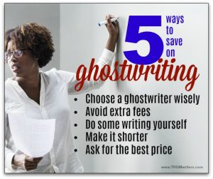 How to save on ghostwriting
