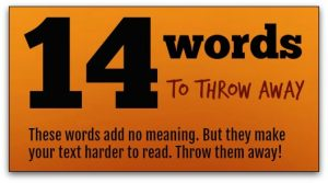 14 useless words to throw away