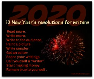 202 New Years resolutions for writers