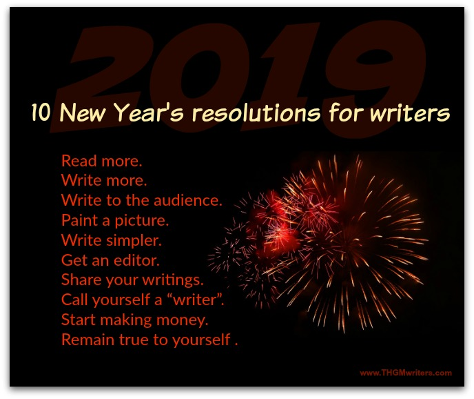New Year's resolutions for writers