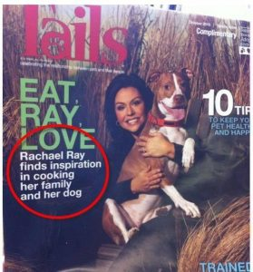 Magazine cover proofreading
