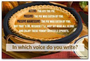 Grammar humor: active voice versus passive voice
