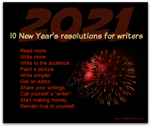 New Years resolutions for writers in 2021
