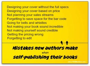 Self-publishing mistakes