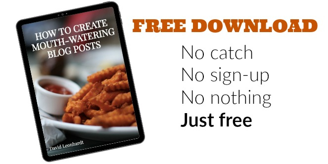 Free ebook on creating mouth-watering blog posts